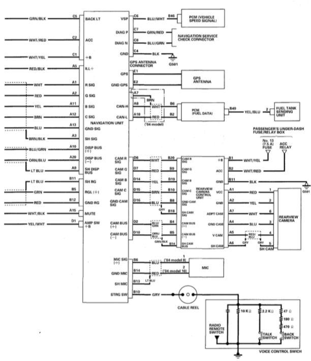wiring schematic 2004 navigation drive acura mdx forum. Black Bedroom Furniture Sets. Home Design Ideas